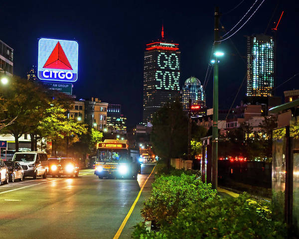 Photograph - Boston Ma Commonwealth Ave Citgo Sign by Toby McGuire