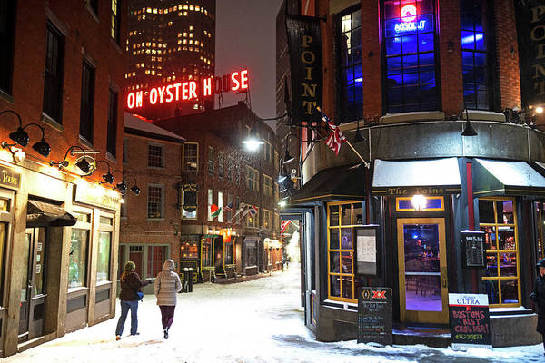 Photograph - Boston Marshall Street Snowy Street Winter by Toby McGuire