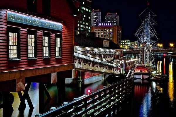 Wall Art - Photograph - Boston Mass Nightscape by Frozen in Time Fine Art Photography