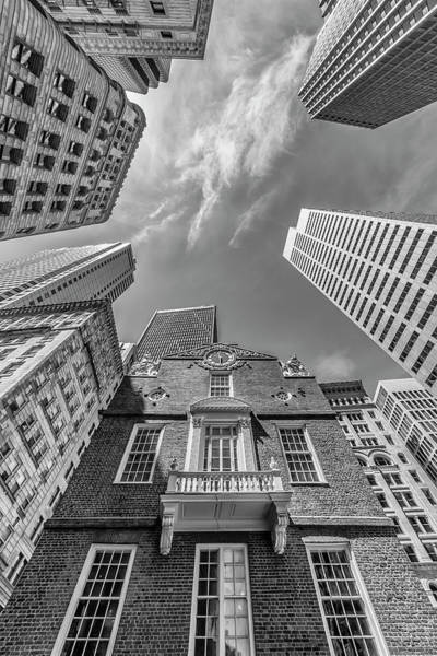 Wall Art - Photograph - Boston Old State House - Monochrome by Melanie Viola