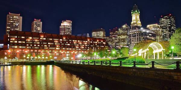 Wall Art - Photograph - Boston Pano At Christopher Columbus Park by Frozen in Time Fine Art Photography