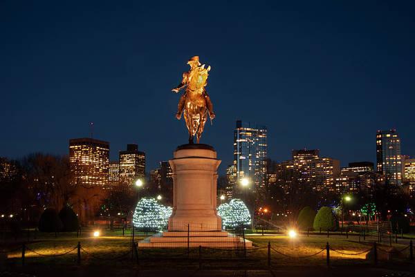 Photograph - Boston Public Garden George Washington Statue by Joann Vitali
