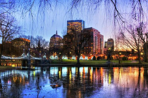 Photograph - Boston Public Garden  Reflections by Joann Vitali
