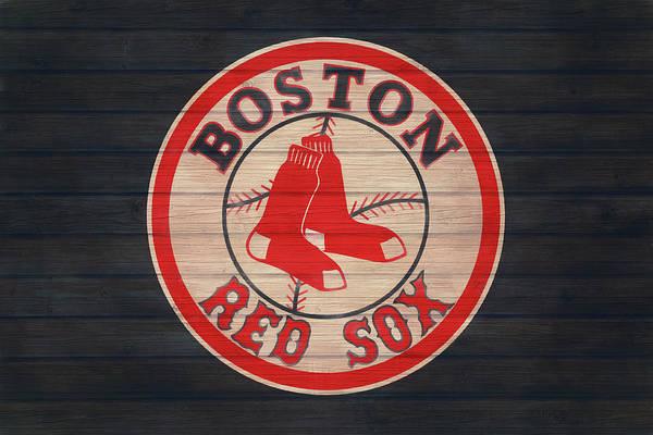 Wall Art - Mixed Media - Boston Red Sox Barn Door by Dan Sproul