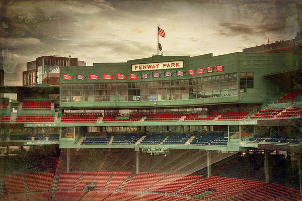 Photograph - Boston Red Sox Fenway Park Press Box by Joann Vitali