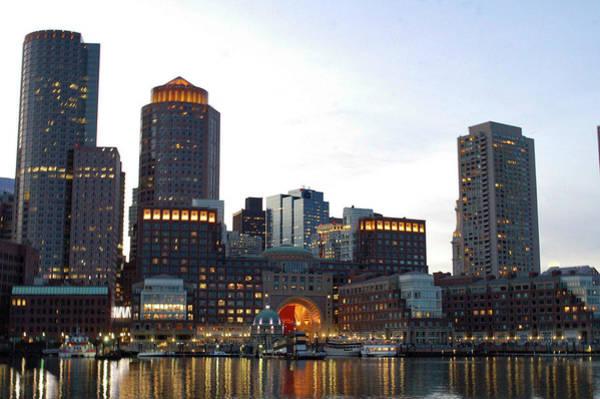 Photograph - Boston Seaport @ Dusk by Christina Maiorano