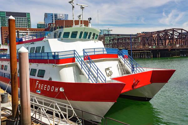 Photograph - Boston Harbor Series 4905 by Carlos Diaz