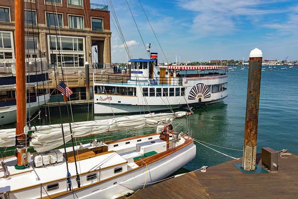 Photograph - Boston Harbor Series 4911 by Carlos Diaz
