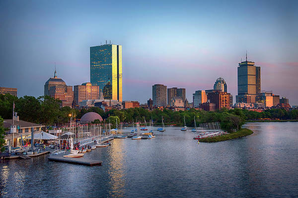 Photograph - Boston Skyline And The Charles River Basin by Joann Vitali