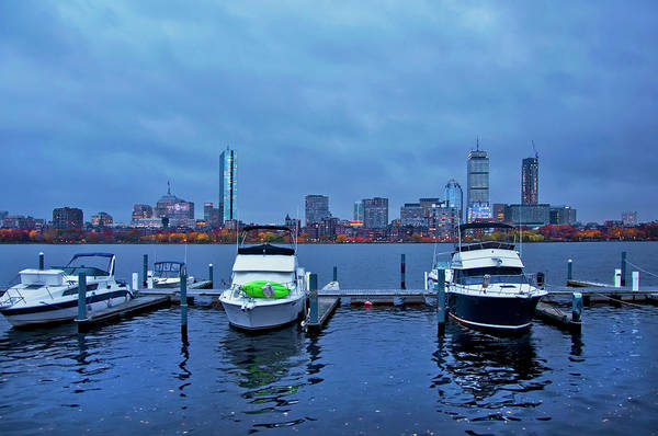 Photograph - Boston Skyline At Night In Autumn by Joann Vitali