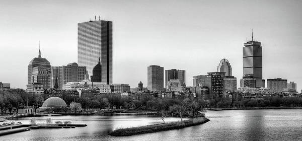 Wall Art - Photograph - Boston Skyline Black And White by JC Findley
