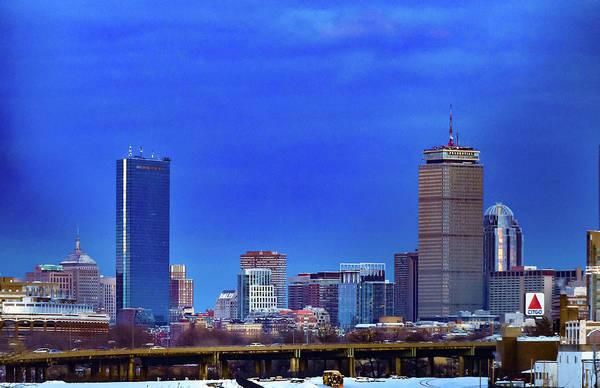 Photograph - Boston Skyline Blue Hue by Christina Maiorano