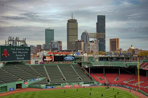 Photograph - Boston Skyline From Fenway Park by Joann Vitali