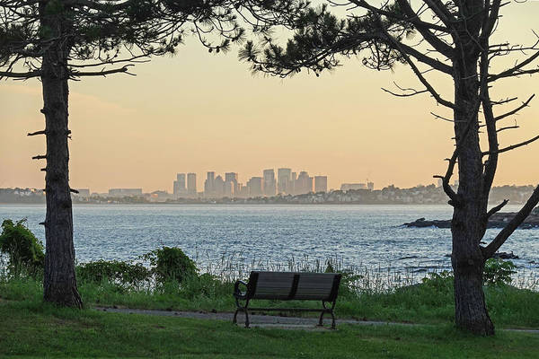 Photograph - Boston Skyline From Nahant Bailey's Point Nahant Ma by Toby McGuire