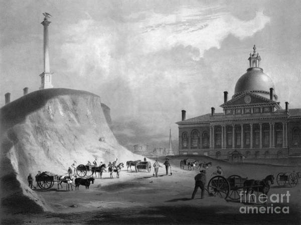 Drawing - Boston State House, 1811 by J R Smith