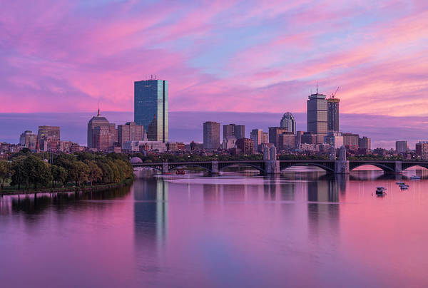Photograph - Boston Sunset by Rob Davies