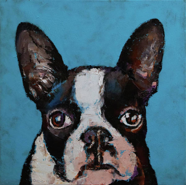 Wall Art - Painting - Boston Terrier by Michael Creese