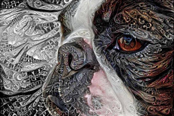 Digital Art - Boston Terrier Up Close And Personal by Peggy Collins