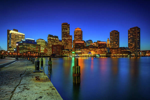 Wall Art - Photograph - Boston Twilight At Fan Pier by Rick Berk
