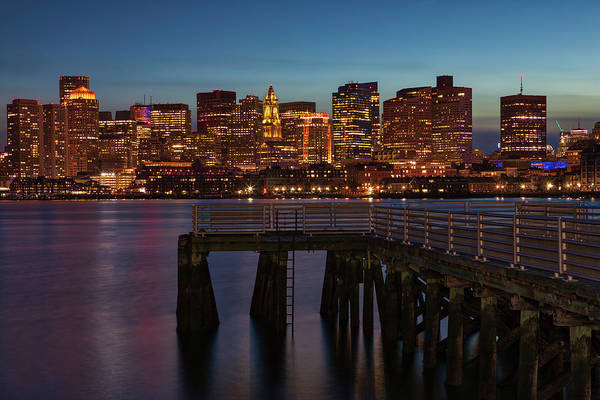 Photograph - Boston Waterfront Skyline by Juergen Roth