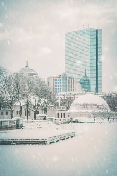 Photograph - Boston Winter - Charles River by Joann Vitali