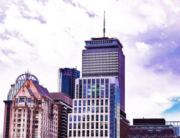 Photograph - Boston's Pru Post Rain by Christina Maiorano