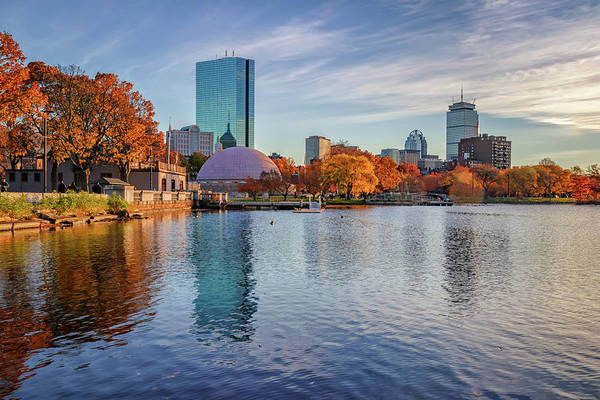 Photograph - Boston's Skyline From The Charles River Esplanade by Kristen Wilkinson