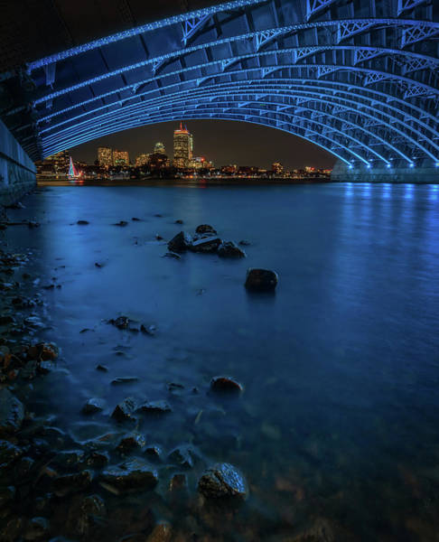 Photograph - Boston's Skyline From Under Longfellow Bridge by Kristen Wilkinson