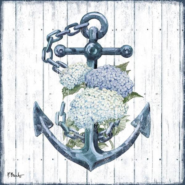 Wall Art - Painting - Botanic Anchor I by Paul Brent