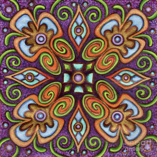 Painting - Botanical Mandala 11 by Amy E Fraser