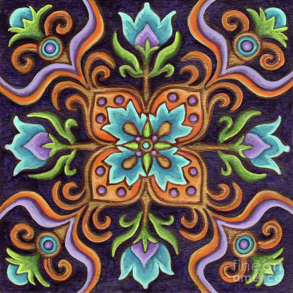 Painting - Botanical Mandala 12 by Amy E Fraser