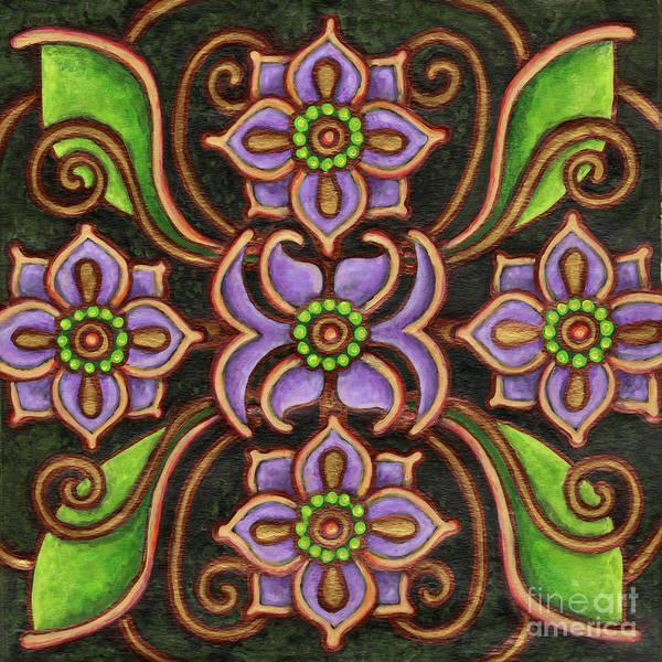 Painting - Botanical Mandala 6 by Amy E Fraser