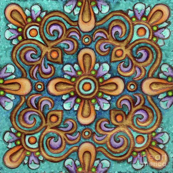 Painting - Botanical Mandala 7 by Amy E Fraser