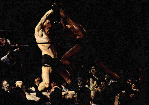 Painting - Both Members Of This Club by George W Bellows