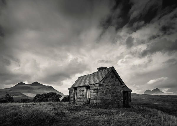 Wall Art - Photograph - Bothy And Mountains by Dave Bowman