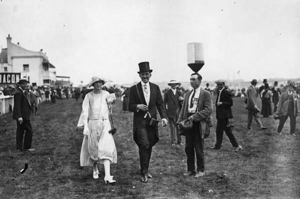 Epsom Derby Photograph - Bottle Balancer by Hulton Archive