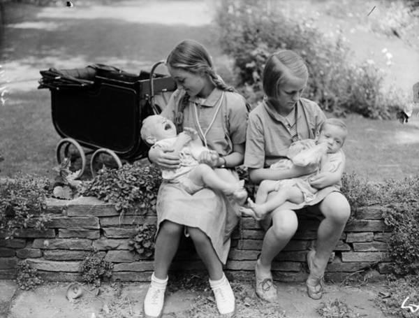 Adolescence Photograph - Bottle Feeding by Reg Speller