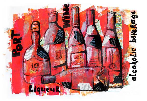 Mixed Media - Bottles Of Drink by Ariadna De Raadt