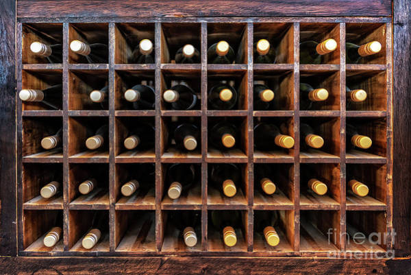 Italian Wine Photograph - Bottles Of Wine by Delphimages Photo Creations