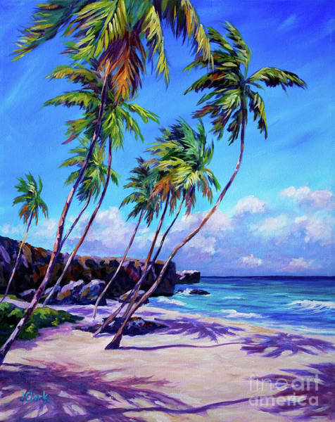 Wall Art - Painting - Bottom Bay Beach Barbados by John Clark