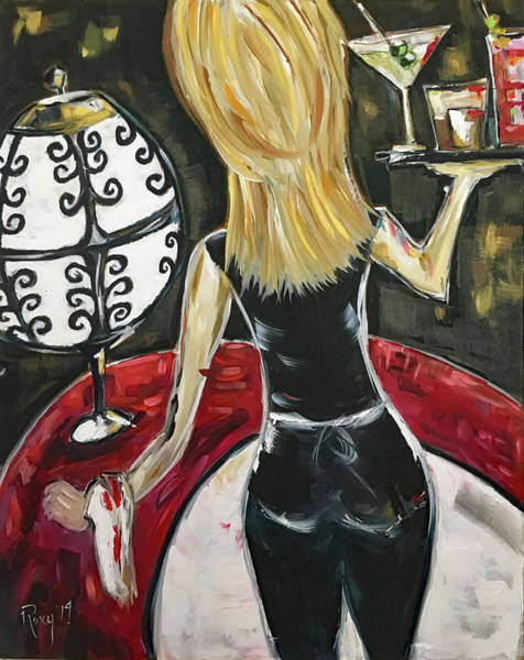 Artwork Painting - Bottoms Up Featuring Roxy Rich by Roxy Rich