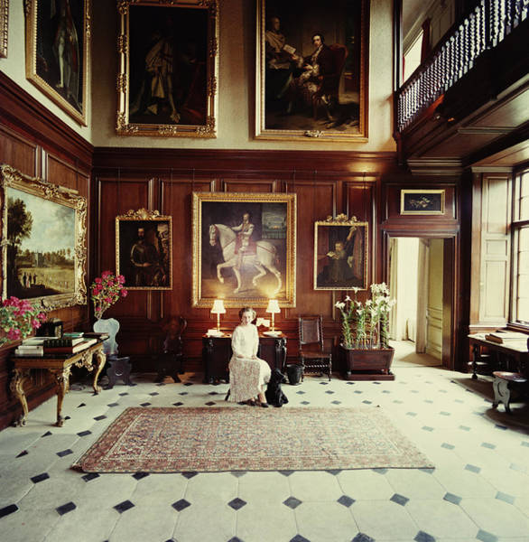 Pets Photograph - Boughton House by Slim Aarons