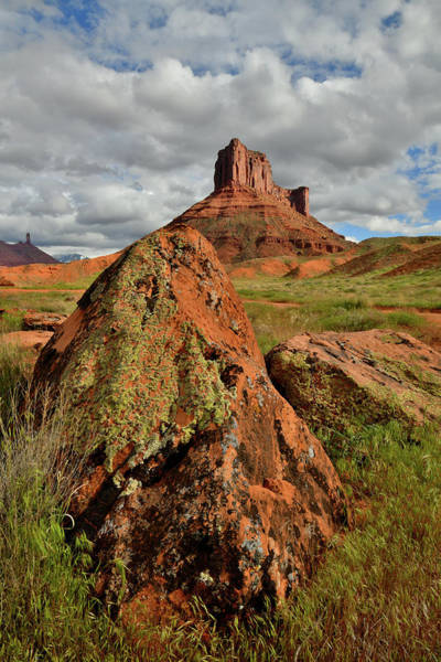 Photograph - Boulder And Butte In Castle Valley Utah by Ray Mathis
