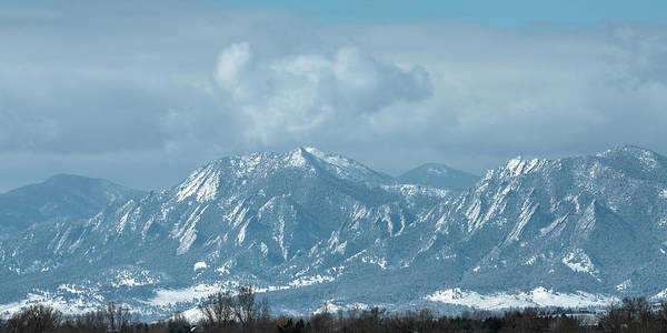 Photograph - Boulder Colorado Front Range Foothills Dusting by James BO Insogna