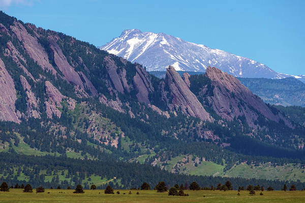 Photograph - Boulder Flatirons And Longs Peak by James BO Insogna