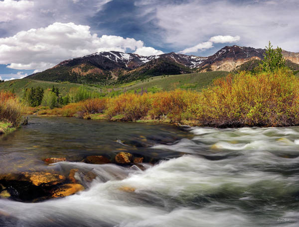 Photograph - Boulder Mountains by Leland D Howard