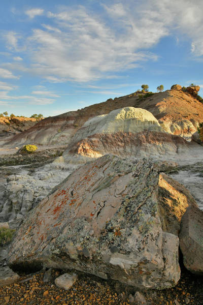 Photograph - Boulders And Dunes In Bentonite Site On Little Park Road by Ray Mathis