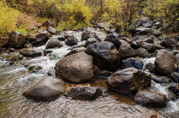 Boulders In Creek Art Print
