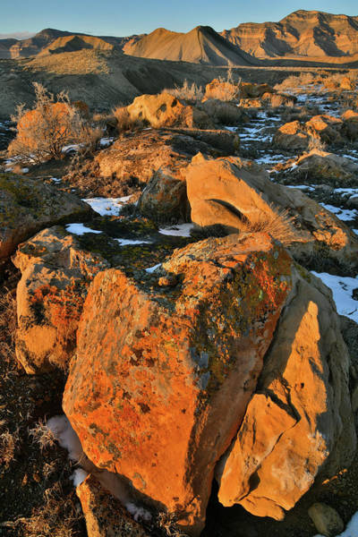 Photograph - Boulders On Fire At Book Cliffs by Ray Mathis