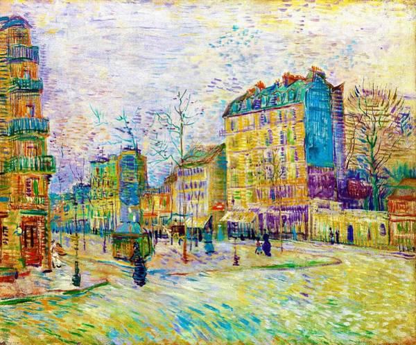 Boulevard Painting - Boulevard De Clichy - Digital Remastered Edition by Vincent van Gogh